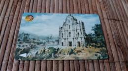 PhonecardcMacau Used  Rare - Macau