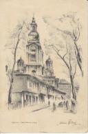 Vladimir Pintaric Drawing Sarajevo Orthodox Cathedral Old Vintage Postcard Not Travelled Bb161020 - Bosnie-Herzegovine