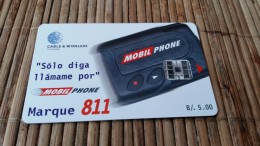 Phonecard Panama Used 2 Scans  Rare