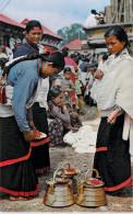 Asie NEPAL Typical Women Of Kathmandu Valley Preparing For Workship (Katmandou)*PRIX FIXE - Népal