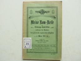 Rom - Reise 1898 Zur Krönungs-Jubel-Feier Leo XIII. Botzler , Theologie , J.M. Von Flüe , Straubing , Pabst !!! - Raritäten