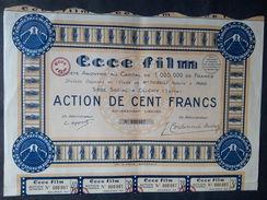 1 S.A.ECCE FILM CLICHY Action 100 FR + Coupons - Aandelen