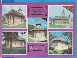 CHURCHES VORONET, MOLDOVITA, SUCEVITA, ARBORE  ROMANIA  GANZSACHE STATIONERY ENTIER