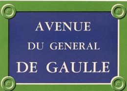"""Série """" Plaques De Rues De Paris"""" - 13 - Avenue Du Général De Gaulle - Divisé- Non Circulé - Editeur Publistar - - France"""