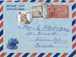 19731. Carta Aerograma RATLAM (India) 1976. Aerogramme To Canada
