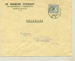 Nederlands Indië - 1934 - 2 Cent Cijfer EF Op Drukwerk-envelop Van Soerabaja/9 Naar Nongkodjadjar - Netherlands Indies