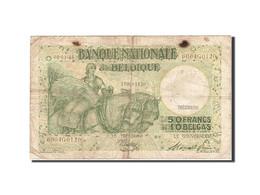 Belgique, 50 Francs-10 Belgas, 1933-1935, KM:106, 1945-01-06, TB - [ 6] Treasury
