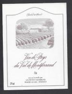 Etiquette De Vin De Pays Du Val De Montferrand  -  Les Petits Vignerons  à  Prades Le Lez  (34) - Unclassified