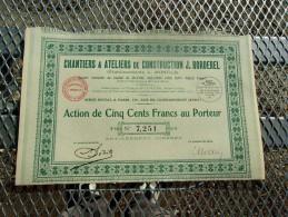 CHANTIERS & ATELIERS DE CONSTRUCTION J. BORDEREL (Ets L. MONFILS) 1931 - Ohne Zuordnung