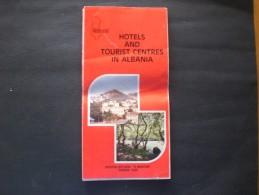 SHQIPERI ALBANIA TIRANA DEPLIANTS TURISTICO - Dépliants Turistici