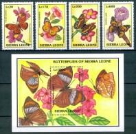1993 Sierra Leone Farfalle Butterflies Papillons Set MNH** Spa238 - Sierra Leone (1961-...)