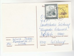 1991 Ezen AUSTRIA 50g Stamps On UPRATED 4s FLOWER  Postal STATIONERY CARD Cover - Stamped Stationery