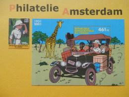 Congo Kinshasa 2001,  KUIFJE / TINTIN: Mi 1690, + Bl. 115, ** - Comics