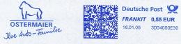 Freistempel 6762 Ostermaier Orang Utan - Marcophilie - EMA (Empreintes Machines)