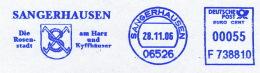 Freistempel 6766 Sangerhausen Wappen Rosenstadt - Marcofilia - EMA ( Maquina De Huellas A Franquear)