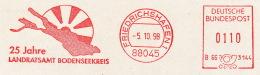 Freistempel 6848 Friedrichshafen Bodensee Landkarte - BRD