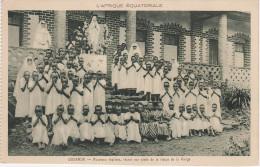 CPA AK Afrique Équatoriale Ouganda Uganda Nouveaux Baptisés Réunis Aux Pieds De La Statue De La Vierge Afrika Africa - Ouganda