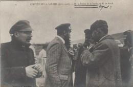 72 CIRCUIT DE LA SARTHE CARTE PHOTO JUIN 1910 M. LE FREFET DE LA SARTHE ET M. DE KNIFT - France