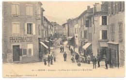 D09 . CPA  . LAVELANET . La PLACE De La LIBERTE Et La Rue NALIEN . Animation  .... - Lavelanet