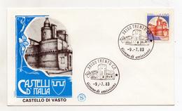 Italia - 1983 - Busta FDC - Lire 1400 - Serie Castelli D´Italia - Castello Caldoresco Di Vasto (Chieti) - (FDC1239)