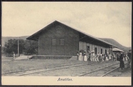 Guatemala - Amatitlan - The Railway / Railroad Station.