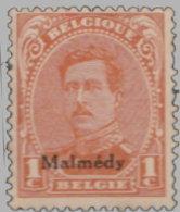 Belgique Malmédy 1920. ~ YT 22* - 1 C. Albert 1er - Guerre 14-18