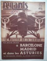 REGARDS :1937: GUERRE D´ESPAGNE - BARCELONE , ASTURIES  .. DANEMARK .. PARIS . ACTUALITES . Etc ....