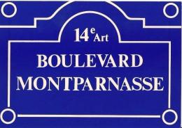 Plaques De Rues De Paris -  Boulevard Montparnasse - 14e Arr. - Divisé- Non Circulé - Editeur Publistar - - Arrondissement: 14