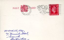 14661 England, Special Postmark Slogan 1964 Glasgow Epilessy Week In Scotland, Circuled Card