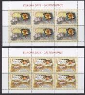 Europa Cept 2005 Romania 2v 2 Sheetlets ** Mnh (F5817) - 2005