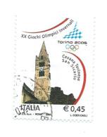 Italia 2005; Giochi Olimpici Invernali: Torino 2006. € 0,45; Usato. - 2001-10: Usati