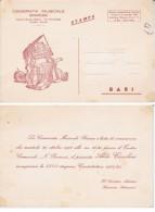 CARTOLINA INVITO CAMERATA MUSICALE BARESE 1968 TASSA PAGATA STORIA POSTALE - Partecipazioni