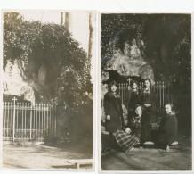 Photo Ancienne - 1928 COURTRAI KORTRIJK -  Eleves Devan Grotte , 2 Old Original Photos - Leuven