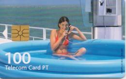 PORTUGAL TELECOM PHONECARD(CHIP) VERAO 2001-6/01-300000pcs -USED(bx1) - Portugal