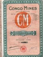 Congo Mines - Action De Cent Francs Au Porteur - Afrique