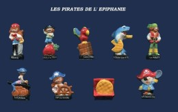 SERIE COMPLETE DE FEVES  LES PIRATES DE L'EPIPHANIE     2017 - Charms