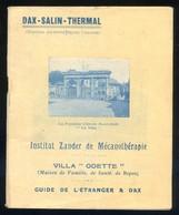 *Dax-Salin-Thermal* Instatat Zander De... Meds: 123 X 151 Mms. - Folletos Turísticos