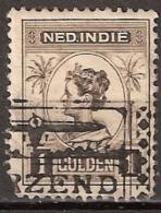 Ned Indie 1913 Wilhelmina 1Gld NVPH 132 Nice Cancellation - Leuk Stempeltje - Niederländisch-Indien
