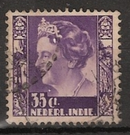 Ned Indie 1938 Wilhelmina Met Watermerk (with Watermark) NVPH 258 Gestempeld/cancelled/used - Indes Néerlandaises