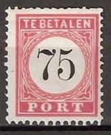 Ned Indie 1882 75ct Port  NVPH 13  Ongestempeld/MH/* - Nederlands-Indië