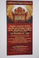 Modern - Adv Card / Folium 2015 : Budapest. St.Stephen´s Basilica -  Orgues Orgue Organ - Musique Et Musiciens