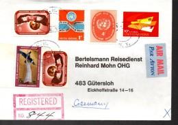 ONU    Lettre  Recommandée Lettre Paix  Oiseaux - Ohne Zuordnung
