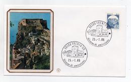 Italia- 1985 -Busta FDC - Lire 50 Bobina- Serie Castelli D´Italia - Castello Di Scilla (Reggio Calabria) - (FDC1243)