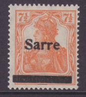 Saargebiet  MiNr. 5aII ** Gepr. - 1920-35 League Of Nations