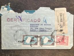 A1 Argentinien Argentina Argentine 1939 R-Brief Von Buenos Aires Nach Paris - Argentinien
