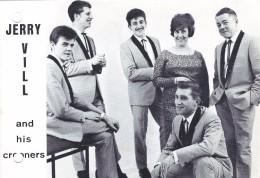 Wezemaal: Jerry Vill And His Crooners: Kaart: Afm. 15cm X 10,5cm. - Documents Historiques