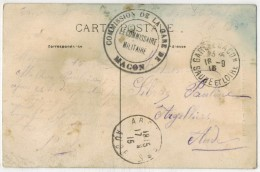 Sur CPA LAMARTINE MACON Vers ARGELLIERS Aude Ob Commission De La Gare De Macon Ob Argelliers + Gare De Macon - Oorlog 1914-18