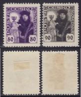 5617. Czechoslovakia 1920 Definitive - Hussites, MH (*) Michel 181-182 - Cecoslovacchia