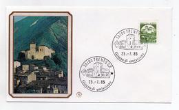 Italia- 1985 -Busta FDC - Lire 450 Bobina- Serie Castelli D´Italia - Castello Di Piobbico (Pesaro) - (FDC1244)