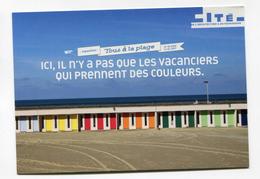 """CPM Publicitaire """" Cité De L'Architecture Et Du Patrimoine - Paris""""  Les Cabines De La Plage - Le Touquet - Paris-Plage - Francia"""